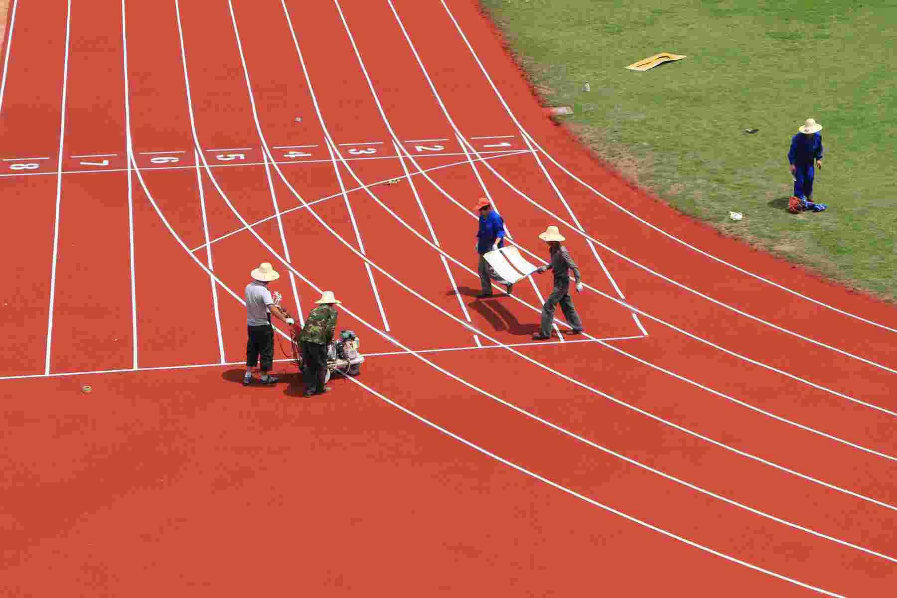 麗江標準塑膠跑道施工多少錢哪家專業圖片