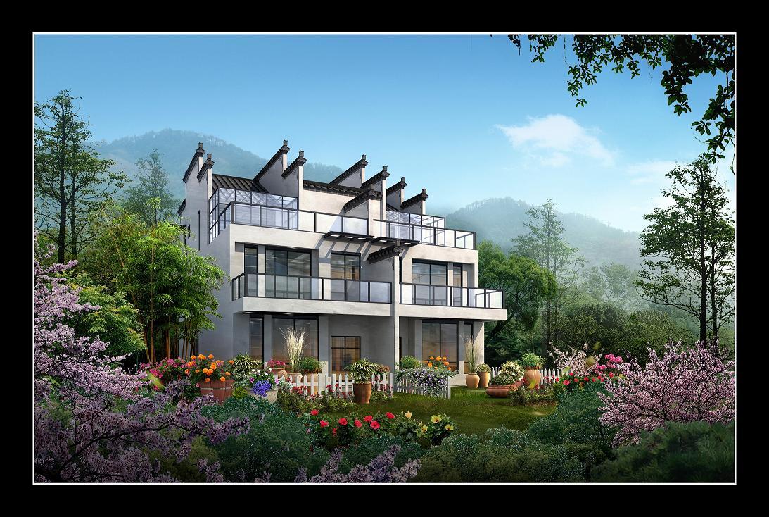 企业商讯一山别墅是集吃,住,行,游,娱为园区的休闲综合一体.湖畔风景大潭龙湾号图片