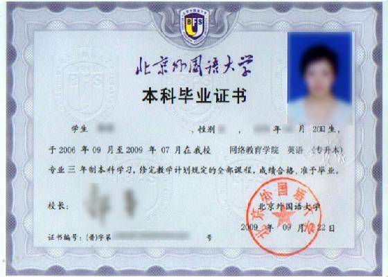 北京外国语大学网络教育学院招生简章