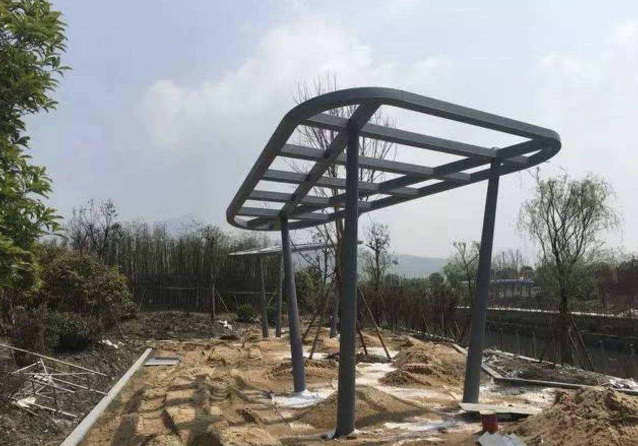 四川钢结构廊架报价设计安装一站式服务