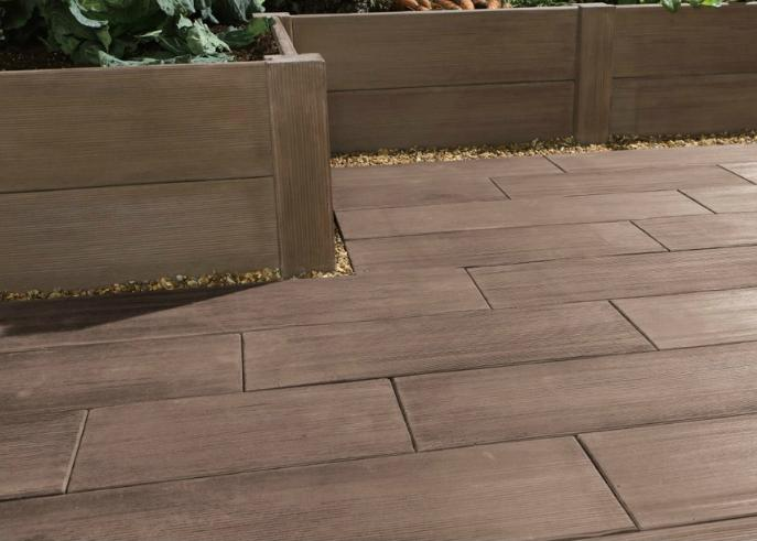 广州水泥仿木地板制作厂家 木纹逼真 环保防火