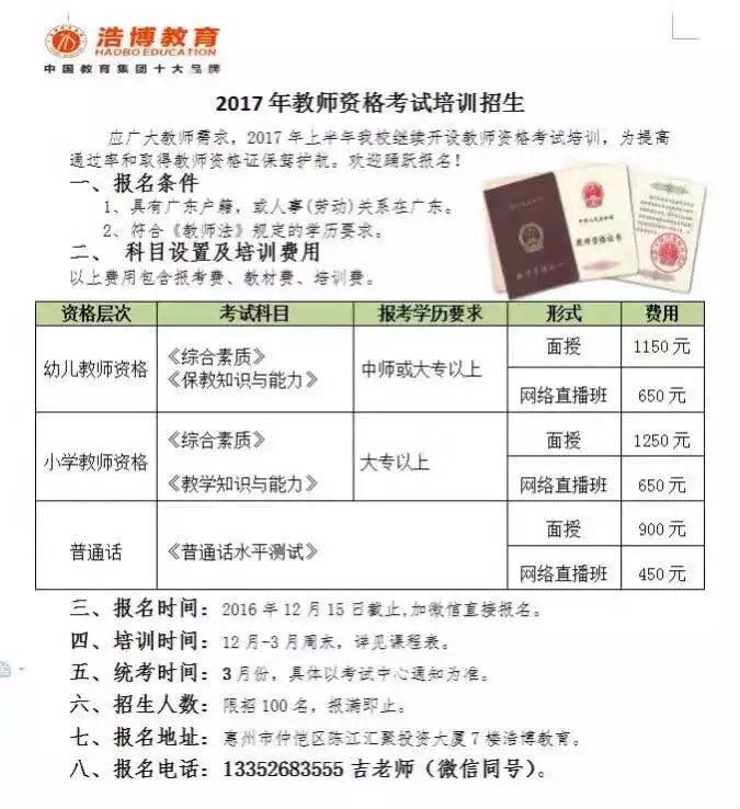 2017年惠州教师资格证学习报名-分类广告-莱高中部邦德图片