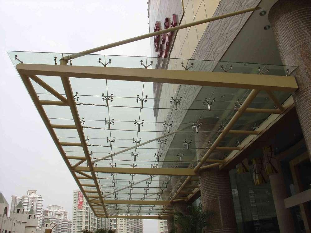 (三),安装钢结构牛腿及连接件,转接件,驳接爪,玻璃板块