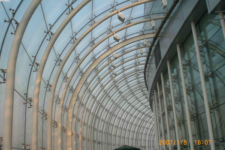 汕尾钢结构网架 玻璃钢结构雨棚 汕尾钢结构