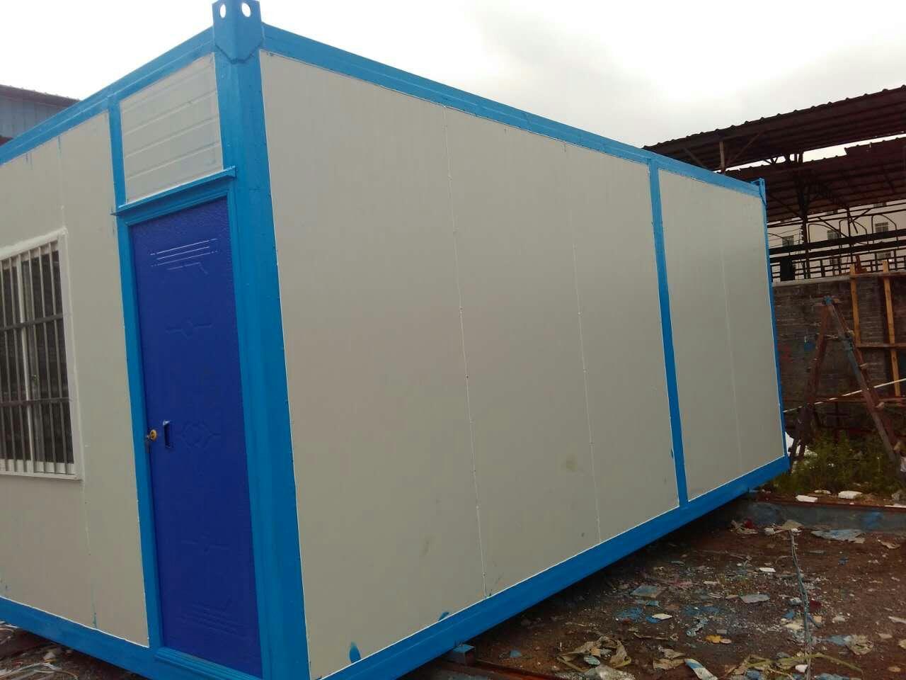 住人集装箱是一种绿色钢结构建筑