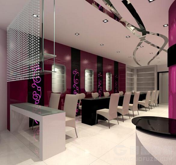 杭州美甲店装修设计如何更吸引人高清图片