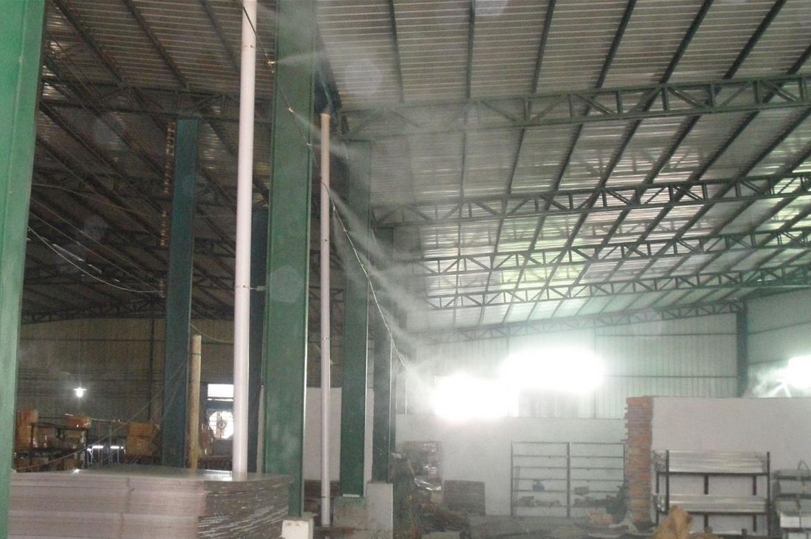 金诚印刷工厂喷雾加湿设备,车间除臭设备轻松去除厂房中的异味
