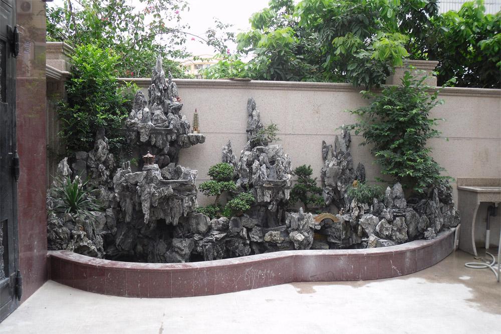 深圳假山鱼池设计施工-佳鸿园林