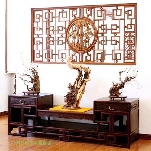 广州仿古木雕花架工艺红木中式屏风厂家定做木雕隔断价格价格