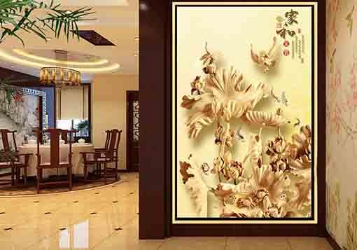广州中式木雕隔断屏风现代木雕玄关厂家定做古代红木木雕屏风价格