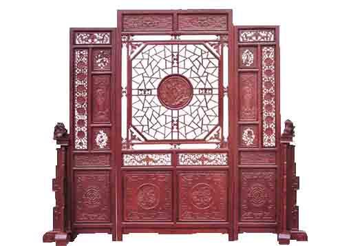 广州中式木雕屏风线条挂落工艺品加工厂家定做镂空木雕背景墙价格