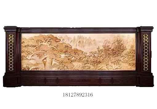 广州实木雕刻屏风客厅镂空板雕刻木质屏风厂家定做红木屏风价格