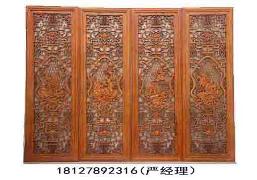木雕门窗,古木雕屏风,古典木雕花格,木雕屏风隔断,实木雕花镂空隔断