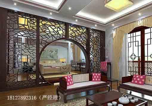 广州花格雕花古典花格窗哪里定做?定做现代推拉花格隔断多少钱?