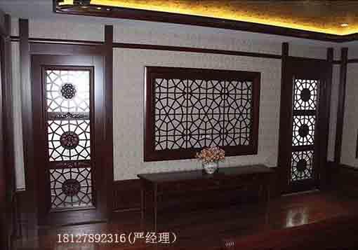 中式实木花格,实木窗无辐射,无污染,是理想的环保材料,是现代人所提倡