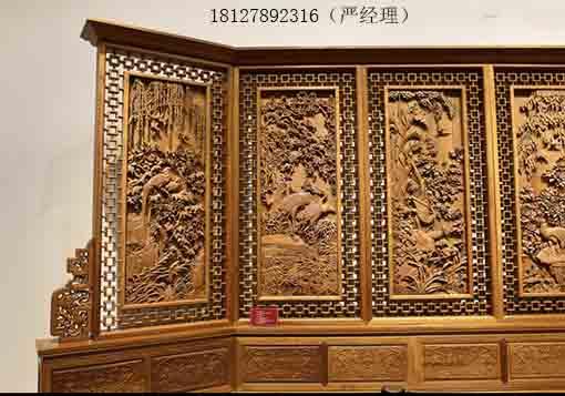 广州木屏风隔断厂家哪个好 实木雕花隔断价格镂空雕花价格多少钱