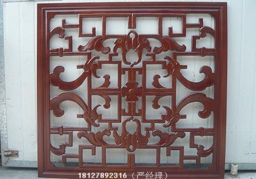 实木雕花加工,实木雕花线条,雕花板定制,木质隔断门,中式雕花窗户