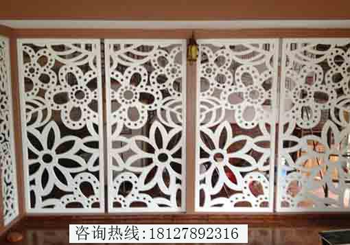 广州镂空雕花屏风厂家加工厂订制雕花隔断多少钱一平方?