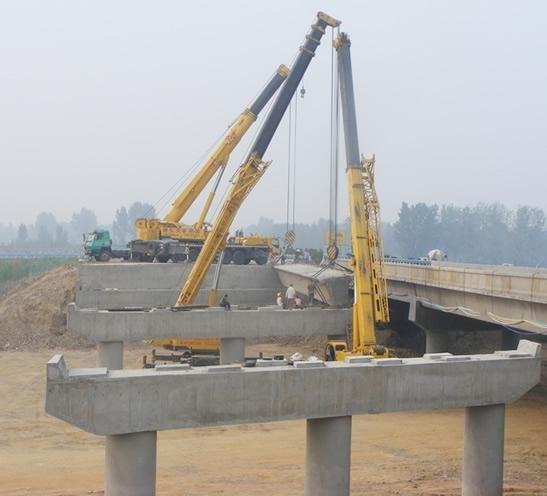 设备就位,市政桥梁架设;超高层建筑的钢结构,标志,机组的吊装;预制桩