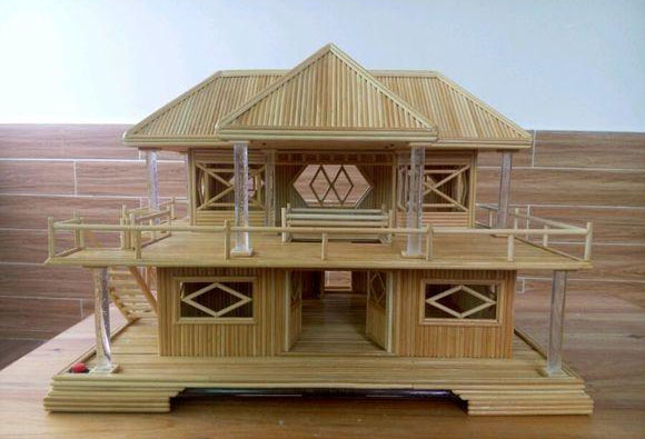 今日作者给大家解读一下,纯手工diy自制发光竹签小房子,给你不一样的