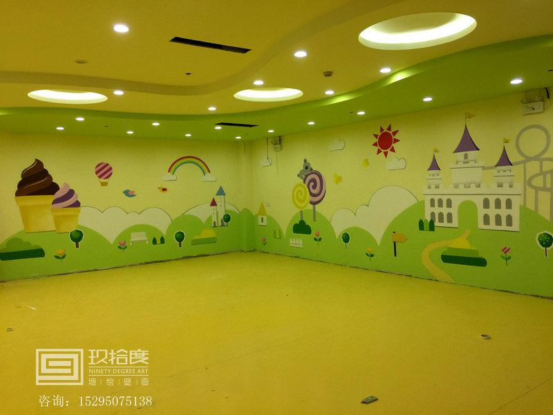 上海墙绘幼儿园墙绘手绘创意图片玖拾度墙绘公司