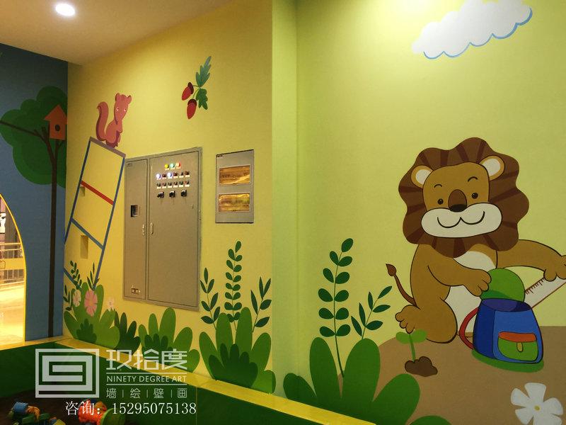 上海儿童主题手绘墙绘公司玖拾度墙绘公司