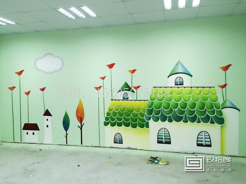 儿童卡通墙绘图片儿童墙绘
