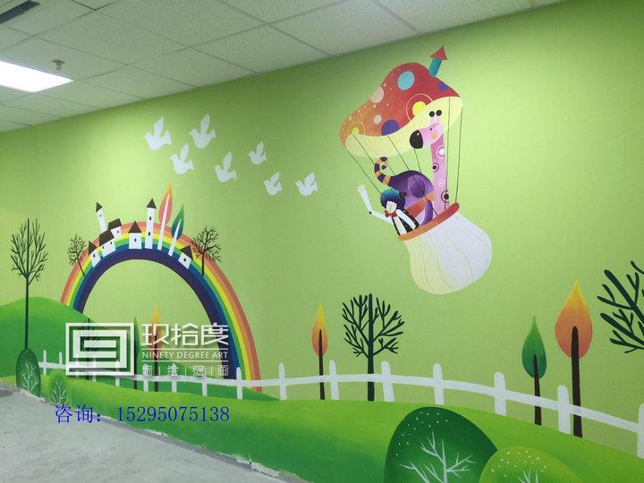 手绘涂鸦墙 手绘墙壁画 手绘背景墙效果图