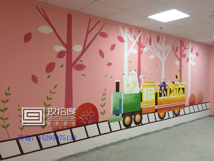 上海早教墙绘主题手绘墙认准玖拾度墙绘品牌