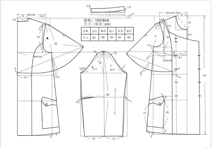现代服装结构设计,其基本方法大致可分为平面与立体两种。所谓平面裁剪,是通过侧体,在人体模特上找准领 1袖、袖窿、胸围、腰围、臀围的位置与围度,画好线做记号,制成服装圆形,并按期式样加以推移变化,或者根据数字计算公式,求出领围、袖围、臀围等部位的比例尺寸。 平面裁剪方法,有助于初学者初学者学会掌握服装裁片与人体立体形状的密切关系,它是服装结构设计的基础。所谓立体裁剪,是指直接用面料在人体模特上塑造服装。也就说在人体模型上进行衣片结构的处置与款式造型,然后通过平面裁剪的方法来调整和校正,也可以再人体上做些修