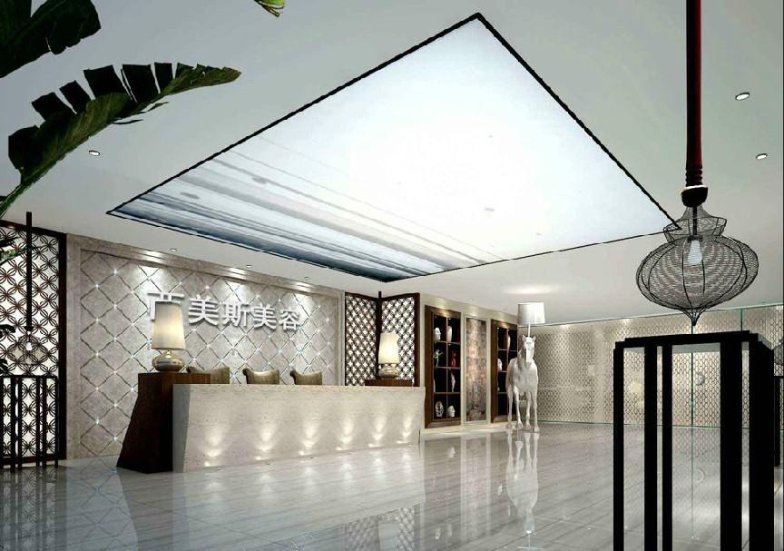 美容院前台装修设计效果图-南京美容院装修哪家好图片