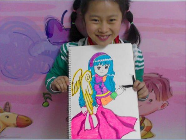 河西万达小孩学画画