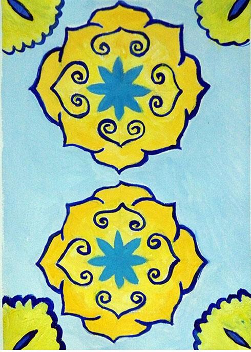 水粉装饰画-小升初美术作品点评最好的美术培训机构