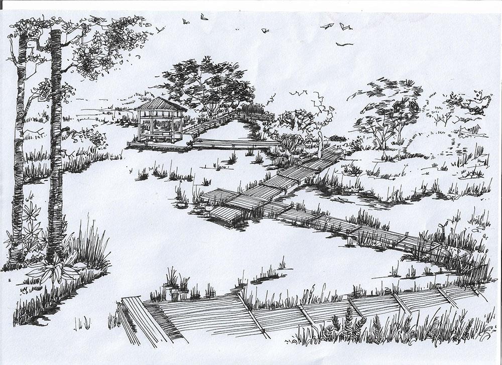 成都园林景观手绘培训 一对一辅导