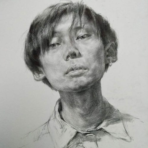 朱正廷素描手绘