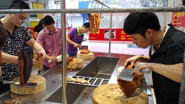 深圳最好的隆江卤猪脚配方培训 快餐隆江猪脚饭做法