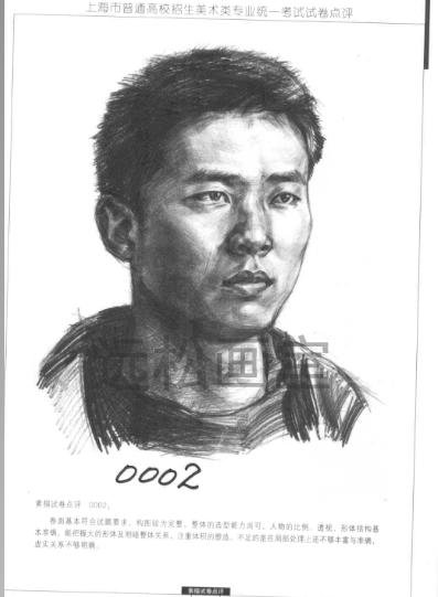 上海美术联考高分试题卷 上海画室美术联考素描高分卷 上海高考美术图片