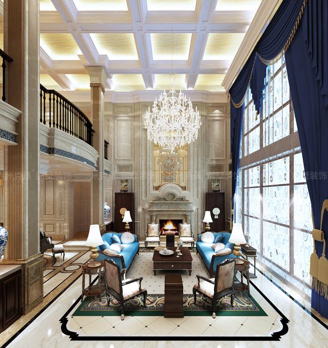 中原网企业信息 2015年欧式别墅客厅装修的效果图  一进大门就能感觉