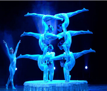 钢琴与萨克斯 演出海报-上海杂技表演 女子柔术 高空绸吊特技表演