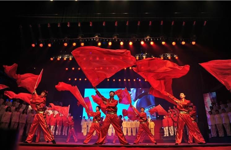 led舞蹈背景素材民族