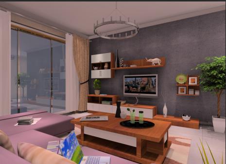 室内家具喷漆效果图