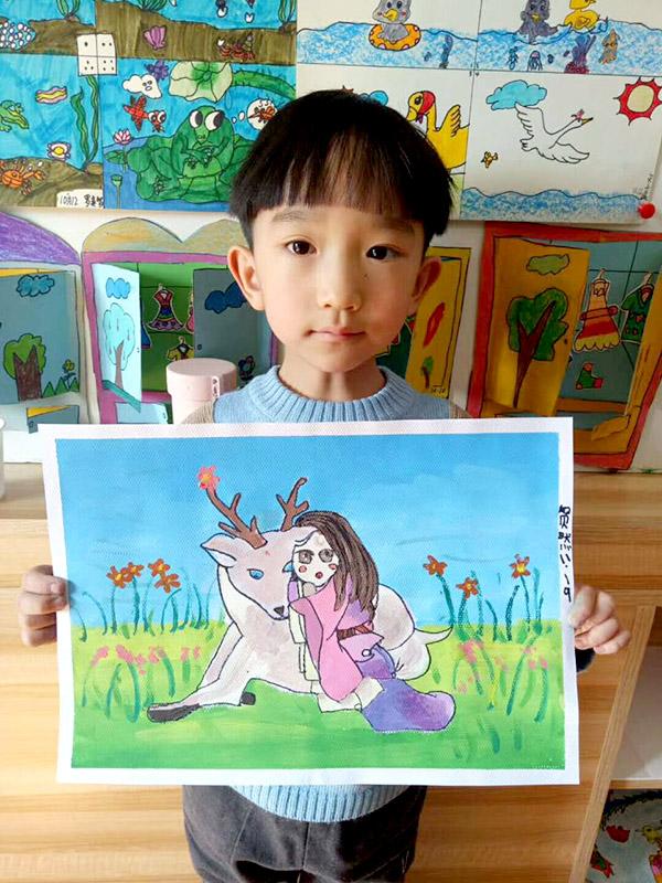 学画画兰州红古区那个画室好宝宝学简笔画找兰州红古区少儿画室