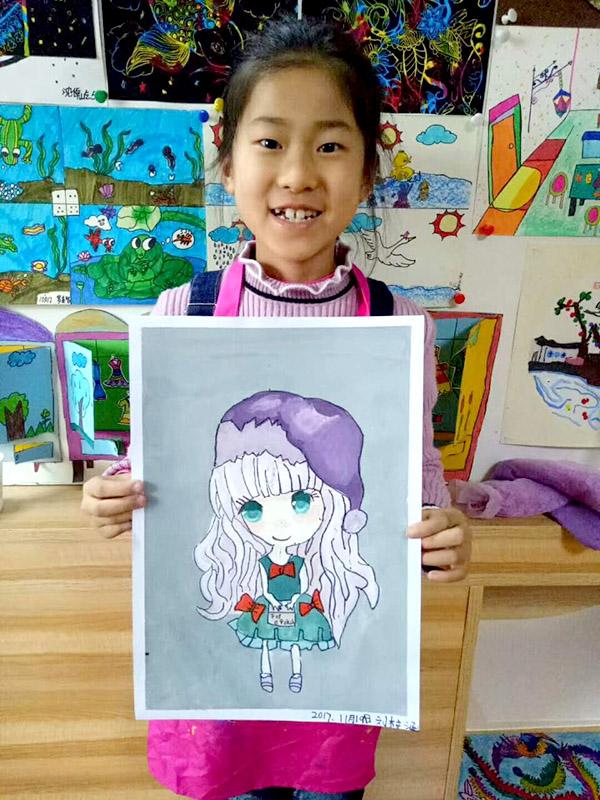 学画画兰州西固区哪个画室好兰州西固区儿童画室宝宝简笔画教学