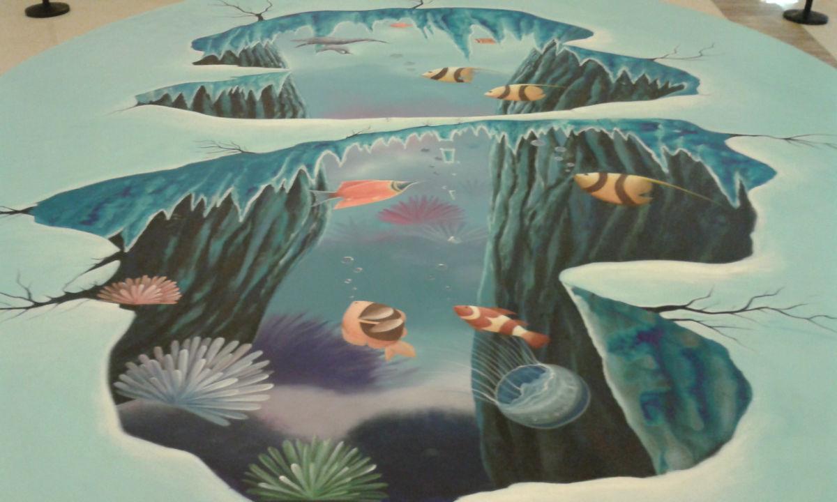 鱼墙绘图片大全