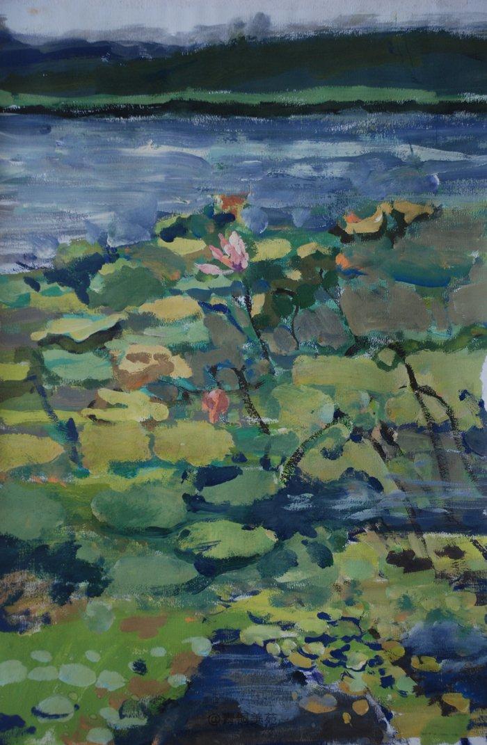 水粉画是色彩画的一种,它同水彩,油画一样,都是从画大色块入手.