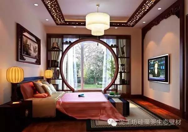 中式风格卧室效果图三