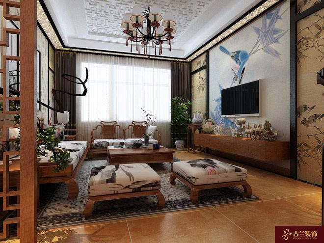 江宁三室两厅中式房屋装修设计哪家效果好