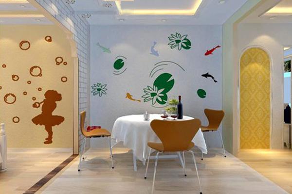 硅藻泥餐厅背景墙最新色彩搭配技巧