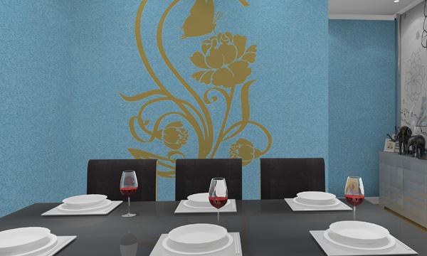 硅藻泥餐厅背景墙 让中国人吃得愉快