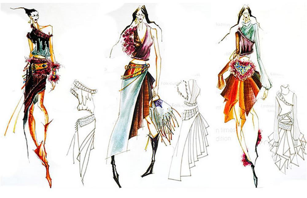 旋律衣服设计图手绘